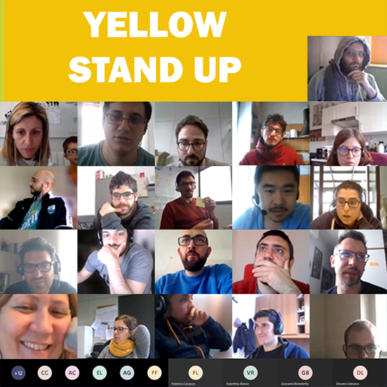 Smart Yellow Stand-Up
